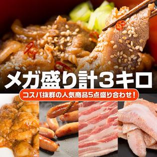 【3kg】人気商品メガ盛り5点セット