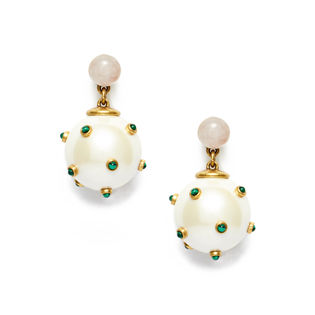 [TORY BURCH(トリーバーチ)]STUDDED STONE PEARL DROP ピアス