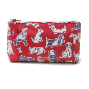 [Cath Kidston]MATT ZIP MAKE UP BAG ポーチ / レッド