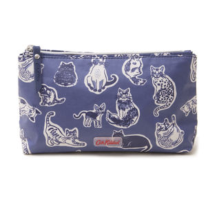 [Cath Kidston]MATT ZIP MAKE UP BAG ポーチ / ネイビー