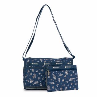 [LeSportsac]DELUXE SHOULDER SATCHEL ショルダーバッグ / ブルー