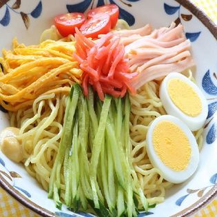 【4食】極細冷やし中華(レモン味)