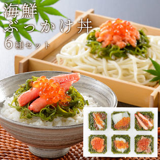 【各70g×6】海鮮ぶっかけ丼 6種セット