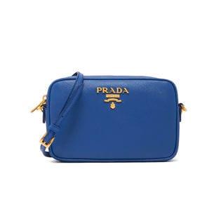 [PRADA(プラダ)]LEATHER SHOULDER BAG ミニバッグ / ブルー