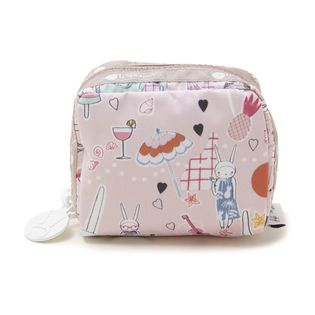 [LeSportsac×Fifi Lapin]SQUARE COSMETIC ポーチ / ピンク