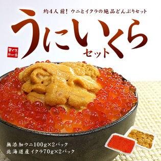 【計340g入】うにいくら丼セット [[ウニイクラセット-2p]