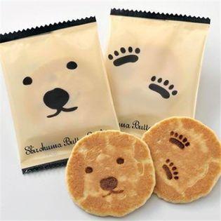 【計48枚(24枚入×2箱セット)】しろくまバターせんべい 北海道 土産 菓か舎