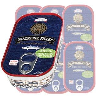 【 125g×6缶】マルハニチロ  TETTY さばフィレエクストラバージンオイル漬け