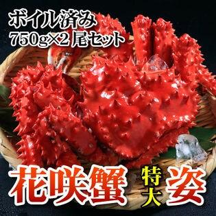 花咲ガニ 特大姿 ボイル【750g×2尾セット】
