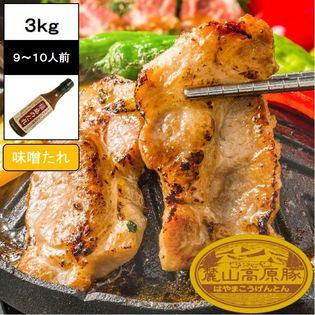 【3kg(3種×5セット)】ブランド豚 麓山高原豚 焼肉 B 味噌たれ セット 9~10人前