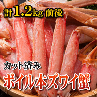 【計1.2kg前後】ボイル本ずわい蟹 カット済み