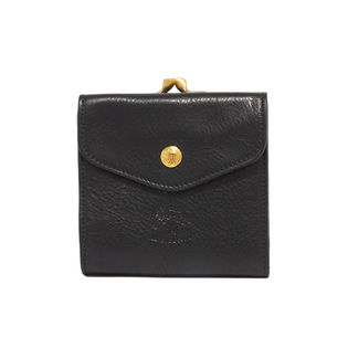 [IL BISONTE(イルビゾンテ)]二つ折り財布 / ブラック
