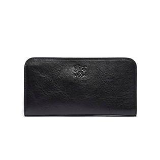 [IL BISONTE(イルビゾンテ)]ラウンド長財布 / ブラック