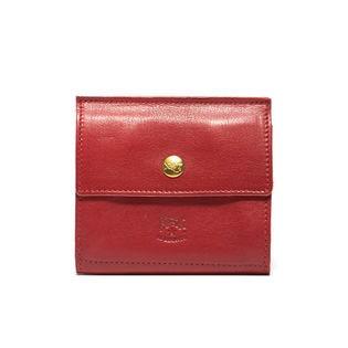 [IL BISONTE(イルビゾンテ)]二つ折り財布 / レッド