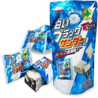 【計48個(12個入×4袋セット)】白いブラックサンダーミニ 北海道土産 有楽製菓 <クール便>