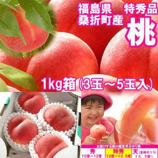 【約1kg(3~5玉入)】献上桃の郷『桑折町の特秀品桃』