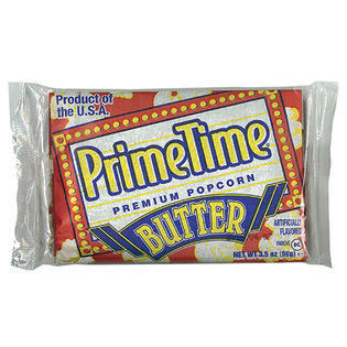 【4個】プライムタイム マイクロウエーブ ポップコーン バター(バター風味)