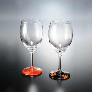 ぬりもん de Verre ワイングラス 蒔絵 紅葉 ペア
