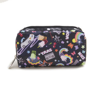 [LeSportsac]RECTANGULAR COSMETIC ポーチ/ブラック