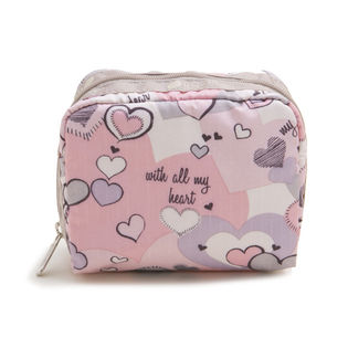 [LeSportsac]SQUARE COSMETIC ポーチ/ライトピンク