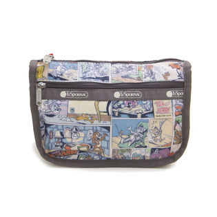 [LeSportsac]TRAVEL COSMETIC ポーチ/グレー