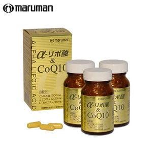 【3本セット】 maruman (マルマン)/α-リポ酸&CoQ10 90粒 (※箱擦れ有り)