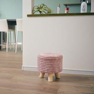 【ピンク】フランネルスツール「baum(バウム)」 2個セット