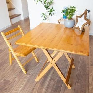 竹製折りたたみテーブル