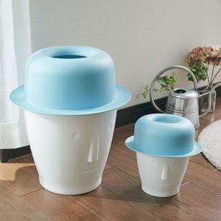 【ブルー】ユニークダストボックス 「tasinamy(タシナミー)」Mサイズ&Lサイズ各1個