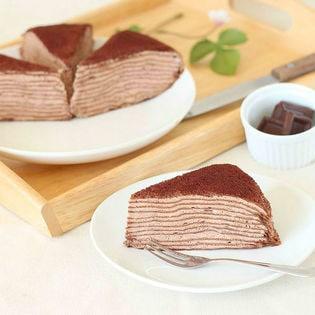【計1280g(80g×16個)】 北海道ミルクレープ生チョコ味