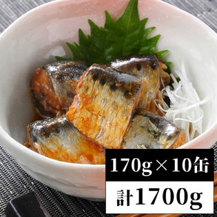 【170g×10缶】<国産>いわし缶詰 醤油煮