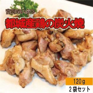 【120g×2袋】都城産鶏の炭火焼