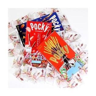 【4種・計33個】感謝チョコ& グリコ ポッキーセット