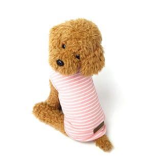 【ピンク/XXL】犬 服 犬服 犬の服 タンクトップ ボーダー ドッグウェア