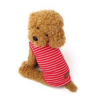 【レッド/XXL】犬 服 犬服 犬の服 タンクトップ ボーダー ドッグウェア