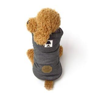 【グレー/M】犬 服 犬服 犬の服 フリース ジャケット コート