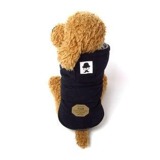 【ブラック/XL】犬 服 犬服 犬の服 フリース ジャケット コート
