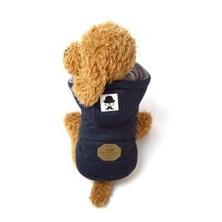 【ネイビー/M】犬 服 犬服 犬の服 フリース ジャケット コート