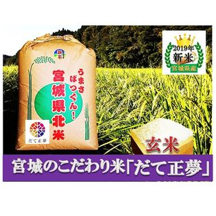 【令和元年新米】【30kg】宮城県産特別栽培だて正夢玄米