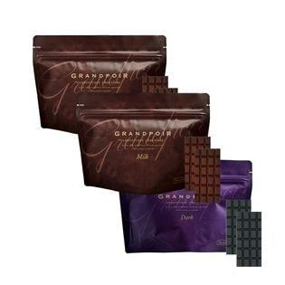 【3袋】砂糖不使用 糖質カット ヘルシー無添加チョコレート グランポワール カカオ2ヶ国+濃い抹茶
