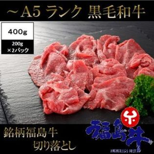 【400g(200g×2パック)】黒毛和牛 A5 A4 等級 銘柄 福島牛 切り落とし