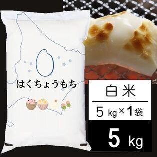 【5kg】 令和元年産 北海道産はくちょうもち白米5kgx1袋