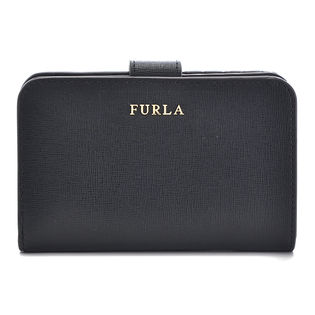 【FURLA】2つ折り財布 / BABYLON M ZIP AROUND 【ONYX】