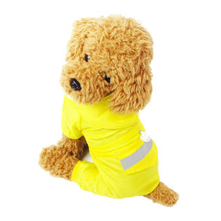 【イエロー/XL】犬のカッパ 犬 服 犬服 犬の服 レインコート カッパ 雨具 つなぎ