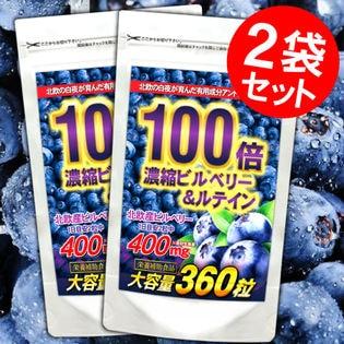 【約1年分】濃縮ビルベリー&ルテイン(約6ヵ月分/360粒)×2袋