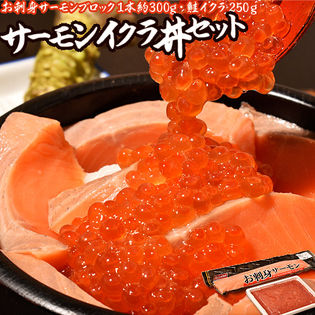 【計550g(約4人分)】サーモンイクラ丼セット