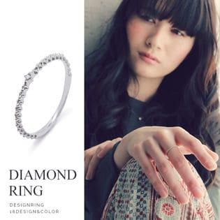 【プチドット】一粒ダイヤモンドリング ハイブランドクオリティの華奢で繊細なリング!