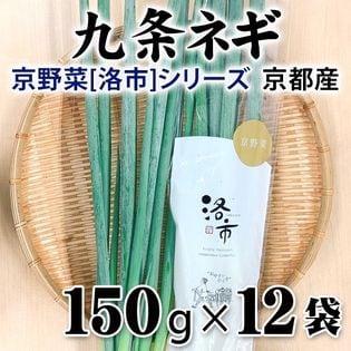【150g×12袋】京都産 九条ねぎ 京野菜「洛市」シリーズ