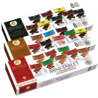 <3箱>BELVAUX(ベルボー) チョコレート「ミニタブレット」3種