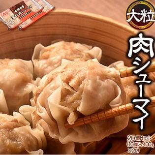 【800g(10個×2パック)】ニッスイの本格派焼売!1粒40gの大粒肉シューマイ